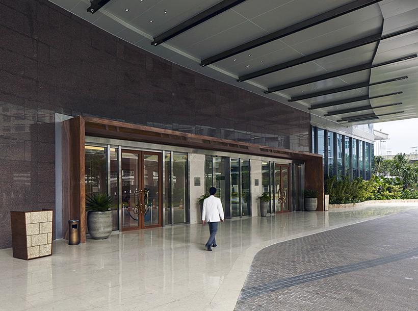 outside image of main entrance of Raffles Jakarta