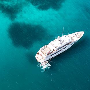 Aerial shot of deep waters