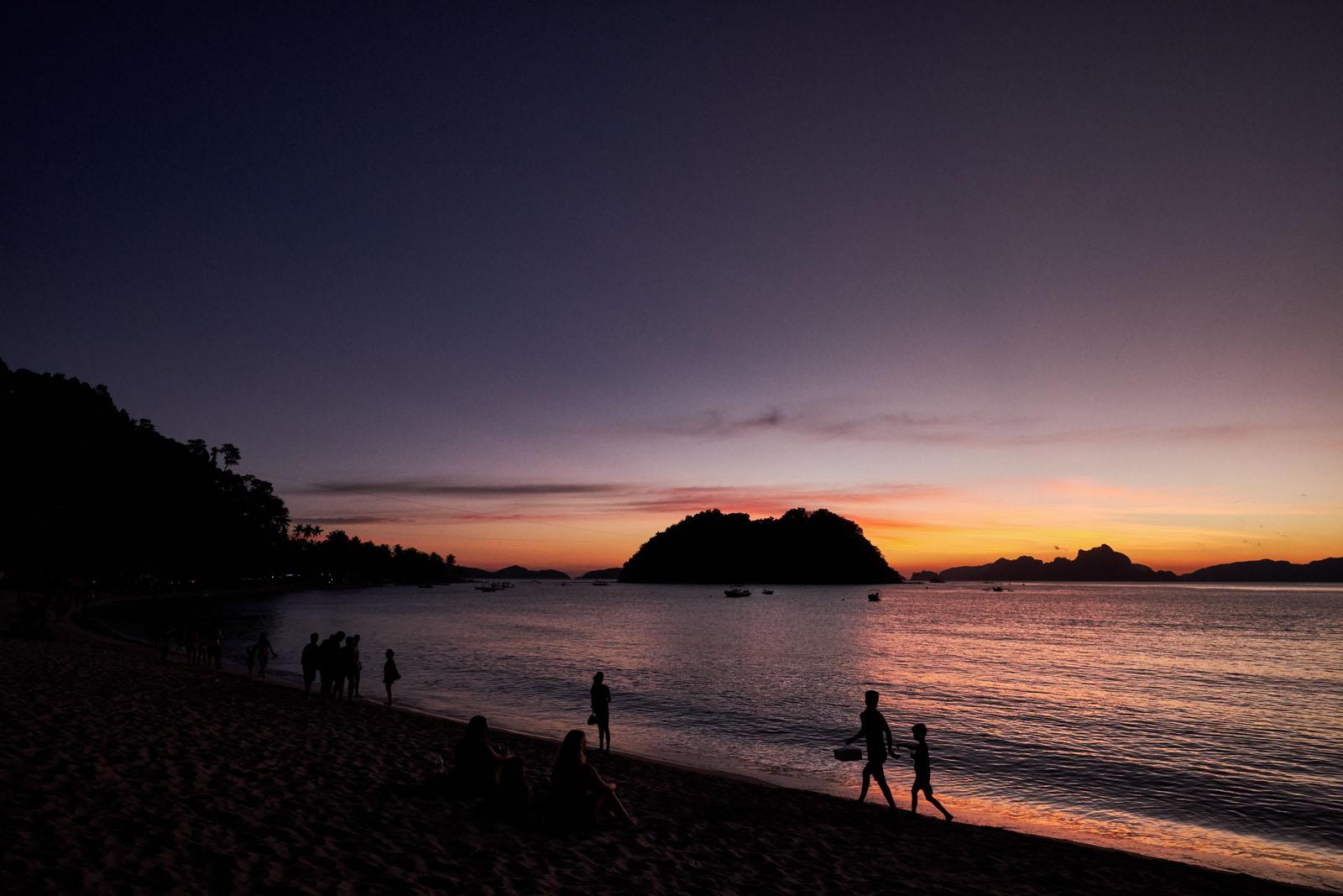 Marimegmeg Beach, famous for its sunsets
