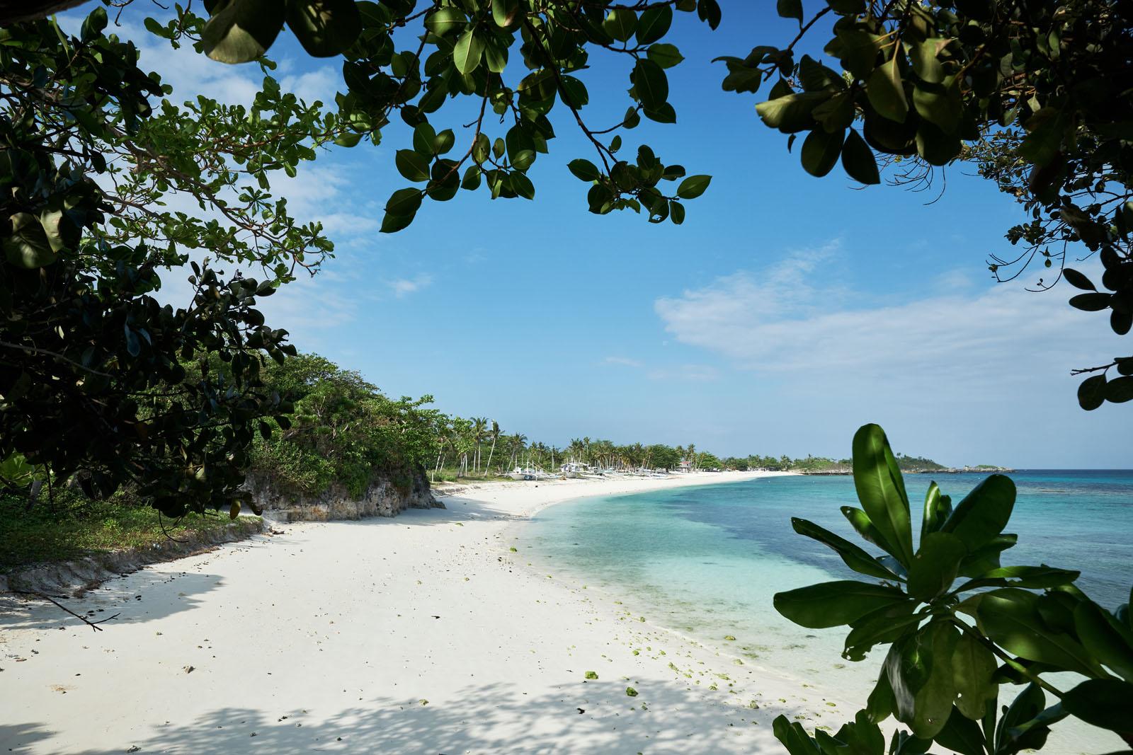 an idyllic shoreline on Malapascua Island, Cebu