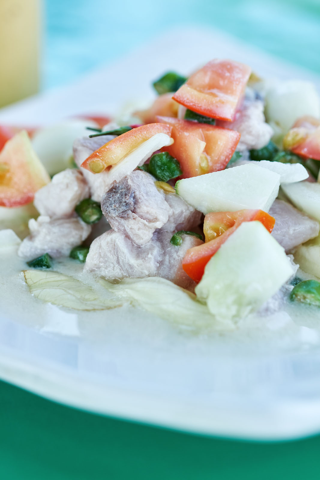 fresh fish and vegetables combine in the Filipino version of ceviche